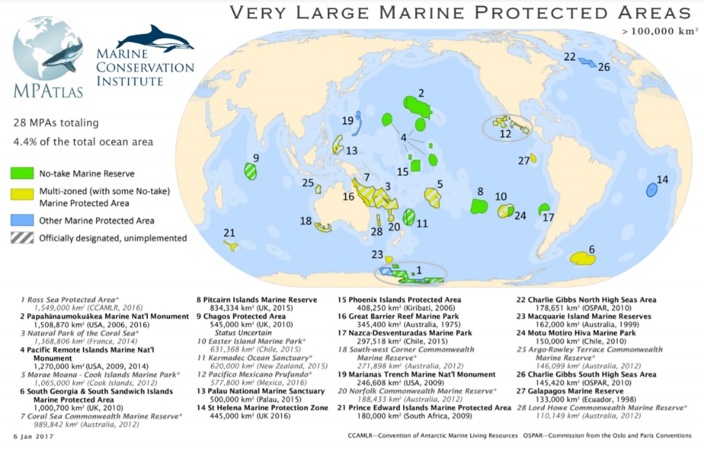 Very Large Marine Protected Areas